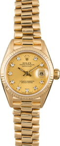 PreOwned Rolex President 69178 Diamond Dial