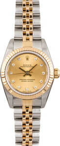 Rolex Lady Oyster Perpetual 76193 Champagne Diamond Dial