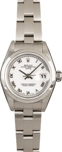 Ladies Rolex Date 79160 White Roman