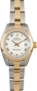 Pre-Owned Rolex Datejust 79163 White Roman Dial