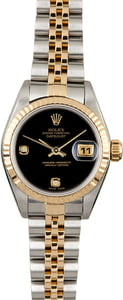 Rolex Ladies Datejust 79173 Black Onyx Diamond Dial