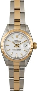 PreOwned Rolex Datejust 79173 White Index Dial