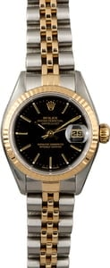 Rolex Ladies Datejust 79173 Black Index Dial