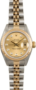 Rolex Datejust 79173 Champagne Diamond Dial