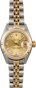 Rolex Datejust 79173 Two Tone Jubilee with Diamonds