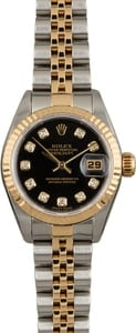 Rolex Datejust 79173 Black Dial with Diamonds