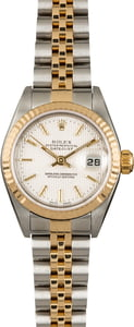 Used Rolex Datejust 79173 Silver Tapestry Dial