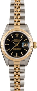 Rolex Datejust 79173 Black Dial Two Tone Jubilee