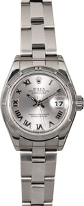 Ladies Rolex Datejust 79190 Silver Roman Dial