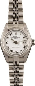Pre-Owned Rolex Ladies Datejust 79190 White Roman Dial