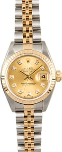 Rolex Datejust Ladies 79173 Diamond Certified Pre-Owned