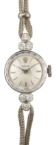 Rolex Ladies Cocktail Watch 14k White Gold