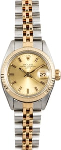 Rolex Ladies Date 6917 Champagne Dial