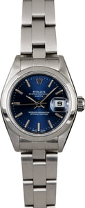 Rolex Ladies Date 79160 Blue Dial