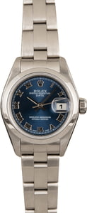 Pre Owned Rolex Ladies Date 79160 Blue Dial
