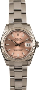 Pre Owned Rolex Ladies Datejust 178274 Pink Dial