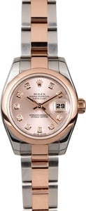 Rolex Women's Datejust 179161SDO Everose Gold
