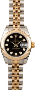 Rolex Datejust 179163 Black Diamond Dial