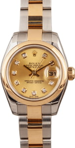 Ladies Rolex 179163 Diamond Dial