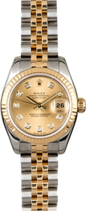 Rolex Lady Datejust 179173 Champagne Diamond Dial