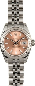 Rolex Lady Datejust 179174 Pink Luminescent Dial