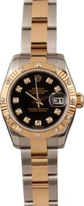 Pre-Owned Rolex Ladies Datejust 179313 Diamond Bezel
