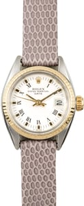 Rolex Ladies Datejust 6917 Leather Strap