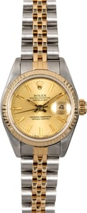Women's Rolex Datejust 69173 Champagne Dial
