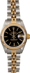 Rolex Ladies Datejust 69173 Black Dial