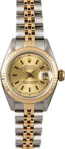 Used Rolex Ladies Datejust 69173 Champagne Dial
