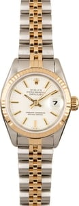 Used Rolex Datejust 69173 White Dial