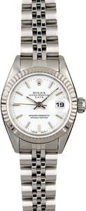 Rolex Ladies Datejust 69174 White Dial