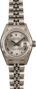 Pre Owned Rolex Ladies Datejust 69174 Silver Roman Dial