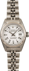 Pre-Owned Rolex Ladies Datejust 69174 White Dial