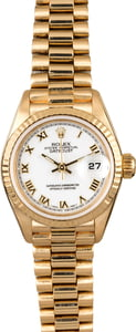 Rolex Ladies Datejust 69178 White Roman Dial