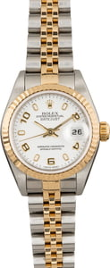 Pre Owned Rolex Ladies Datejust 79173 Arabic White Dial