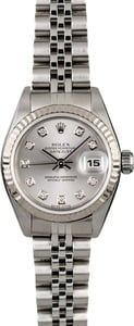 Rolex Ladies Datejust 79174 Rhodium Diamond Dial