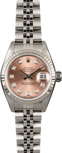 Rolex Ladies Datejust 79174 Salmon Diamond Dial