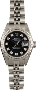 Pre Owned Rolex Ladies Datejust 79174 Black Diamond Dial