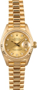 Rolex Ladies Datejust President 69178 Diamonds