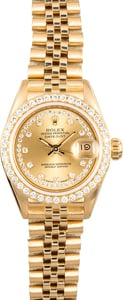 Rolex Ladies Diamond Datejust 69178
