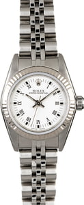 Rolex Ladies Oyster Perpetual 76094 White Roman
