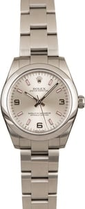Pre Owned Rolex Ladies Oyster Perpetual 177200 Arabic Dial T