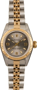 Pre Owned Rolex Ladies Oyster Perpetual 67193 Fluted Bezel