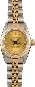 Pre Owned Ladies Champagne Diamond Rolex 67193