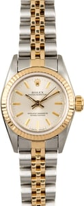 Rolex Ladies Oyster Perpetual 67193 Silver Dial