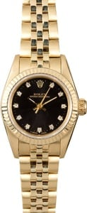 Rolex Ladies Oyster Perpetual 67197 Diamonds