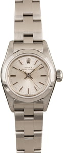 Used Rolex Ladies Oyster Perpetual 67230 Silver Index