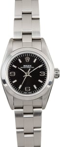 Rolex Ladies Oyster Perpetual 76080 Black Dial