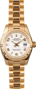 Womens Rolex President 179178 18K Yellow Gold
